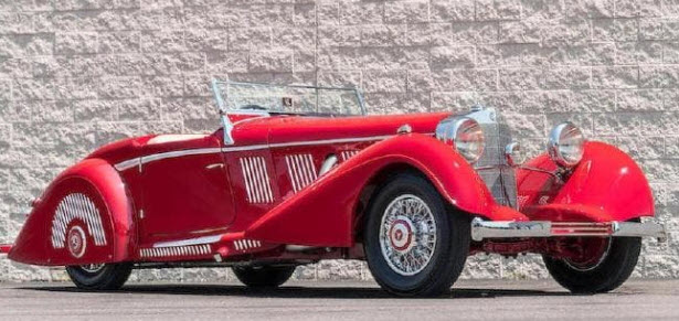 The Mercedes Benz 540K Sports Roadster.